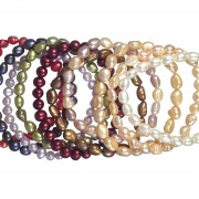 set of 10 pearl bracelets