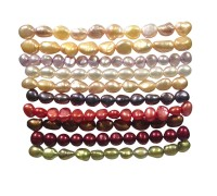 Set of 10 Pearl Bracelets
