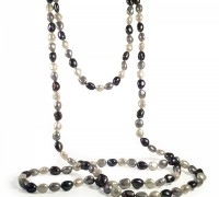 62 inch silver necklace