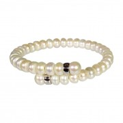 Bridesmaids pearl and silver bracelet