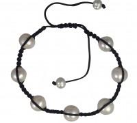 Shambala white pearl bracelet