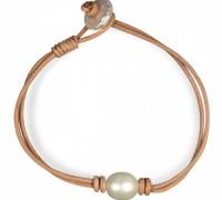 pearl tan knot bracelet