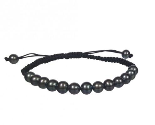 black pearl shambala bracelet