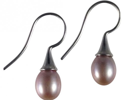 natural pearl drop earrings