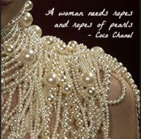 Coco Chanel pearls